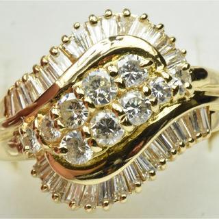 専用です【鑑別】大きいサイズ K18 合計 1.13ct ダイヤモンドリング(リング(指輪))