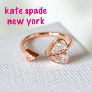 ケイトスペードニューヨーク(kate spade new york)の【新品♠︎本物】ケイトスペード ストーンハート リング クリア(リング(指輪))