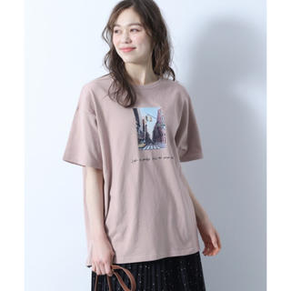 ヘザー(heather)のフロントフォトプリントt(Tシャツ(半袖/袖なし))