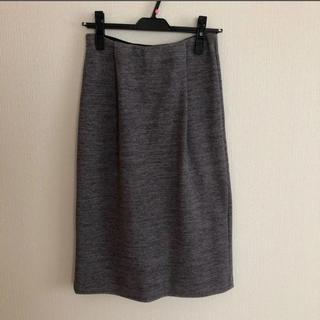 ローズバッド(ROSE BUD)のローズバッド タイトスカート ロングスカート グレー(ひざ丈スカート)