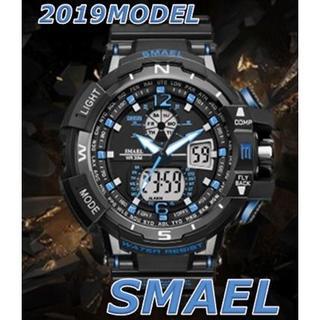 2020新入荷!■新品■ ビッグフェイス ダイバーズウォッチ青(腕時計(デジタル))