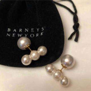 バーニーズニューヨーク(BARNEYS NEW YORK)の新品バーニーズニューヨーク購入3連パールピアス(ピアス)