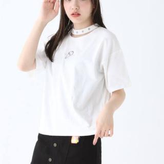 レピピアルマリオ(repipi armario)の新品 レピピアルマリオ   ハトメチョーカーツキTシャツ(Tシャツ(半袖/袖なし))