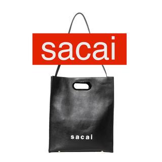 サカイ(sacai)の【sacai】shopper bag medium 黒(ハンドバッグ)