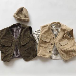 corduroy vest(ジャケット/コート)