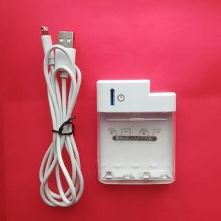 アイフォーン(iPhone)のiPhone対応乾電池式充電器 単3  使用(防災関連グッズ)