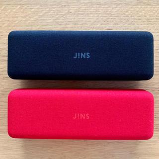 JINS メガネケース 黒・赤セット
