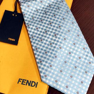 フェンディ(FENDI)のフェンディ 明るいブルーのネクタイ(ネクタイ)