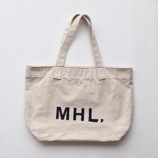 マーガレットハウエル(MARGARET HOWELL)の【美品です】MHL エムエイチエル コットントートバッグ(トートバッグ)