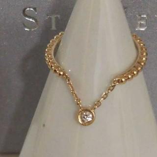 スタージュエリー(STAR JEWELRY)のスタージュエリー K10 ダイヤモンド リング ピンキー バブル ミディ 美品(リング(指輪))
