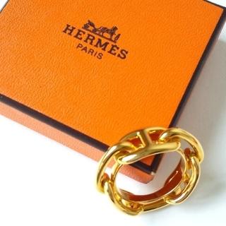 エルメス(Hermes)の新品 HERMES エルメス スカーフリング  シェーヌダンクル ゴールド(その他)