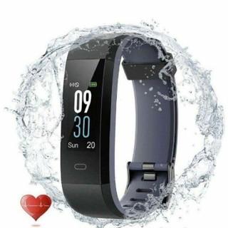 スマートウォッチ 心拍計 活動量計 P68完全防水 電話着信 LINEアプリ通知(腕時計(デジタル))