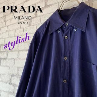 プラダ(PRADA)の【ラグジュアリー♪】PRADA プラダ/ドレスシャツ 上質コットン (シャツ)