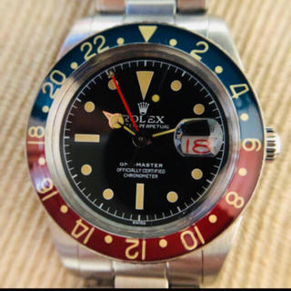 ロレックス(ROLEX)の木彫りの富様専用 GMT 6542 白(腕時計(アナログ))