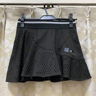 アディダスバイステラマッカートニー(adidas by Stella McCartney)のアディダス バイ ステラマッカートニー テニススコート ブラック Lサイズ(ウェア)