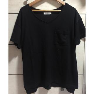 レプシィム(LEPSIM)の【LEPSIM】Tシャツ 黒T カットソー トップス(カットソー(半袖/袖なし))