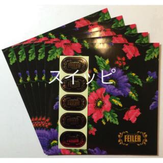 フェイラー(FEILER)のフェイラー 包装用 袋 シール 5枚 ハンカチ タオル ポピー  花 柄 バッグ(ショップ袋)