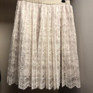 ドゥアルシーヴ(Doux archives)の☆美品☆プリーツレーススカート☆(ひざ丈スカート)