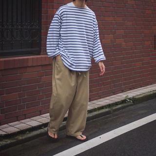 コモリ(COMOLI)のoutil ボーダー バスクシャツ(Tシャツ/カットソー(七分/長袖))