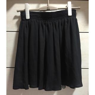 マジェスティックレゴン(MAJESTIC LEGON)のスカート キュロット 黒(ミニスカート)