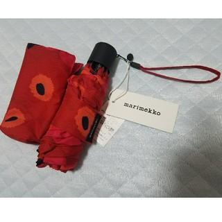 マリメッコ(marimekko)のmarimekko 折り畳み傘 ウニッコ (傘)