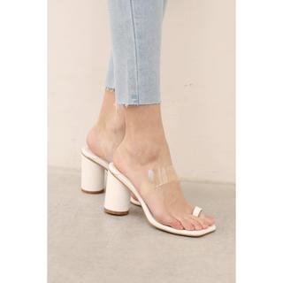 ALEXIA STAM - ALEXIA STAM Clear Strap Sandals white