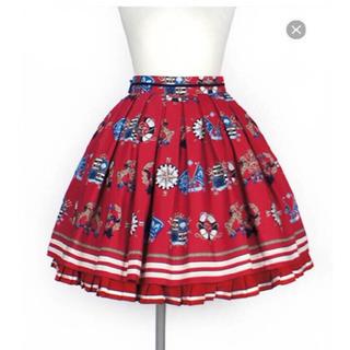アンジェリックプリティー(Angelic Pretty)のAngelic Pretty Vintage marine スカート アカ(ひざ丈スカート)