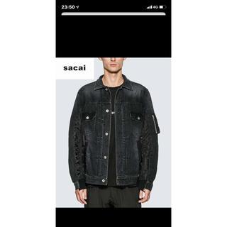 サカイ(sacai)の【新品未使用】sacai 20ss デニムジャケット ブラック サイズ1(Gジャン/デニムジャケット)