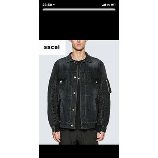 sacai - 【新品未使用】sacai 20ss デニムジャケット ブラック サイズ1