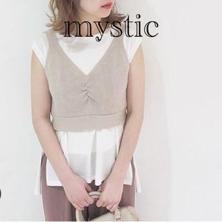 ミスティック(mystic)のバックリボンベスト★ベージュ(ベスト/ジレ)