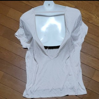 ラヴィジュール(Ravijour)のTシャツ カットソー トップス 背中空き Tシャツ バックオープン とろみシャツ(ルームウェア)