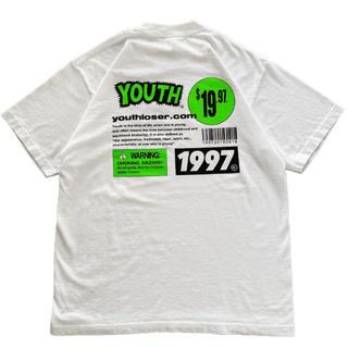 白 mサイズ youth loser  INSPIRATION T SHIRT(Tシャツ/カットソー(半袖/袖なし))