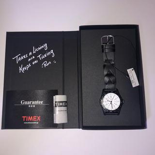 タイメックス(TIMEX)の新品 TIMEX ロンハーマン 腕時計 黒(腕時計(アナログ))
