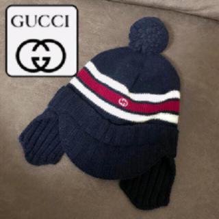 グッチ(Gucci)の🌸GUCCI ニット帽 男女兼用 ネイビー マリンカラーGG(帽子)