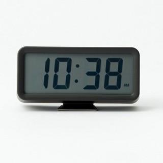ムジルシリョウヒン(MUJI (無印良品))の【新品未開封】無印良品 デジタル時計/小 掛置時計/ブラック(置時計)