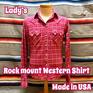 ロックマウント(ROCKMOUNT)のRock mount Lady's ネル ウエスタンシャツ(シャツ/ブラウス(長袖/七分))