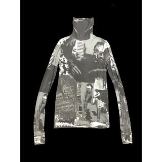 ラフシモンズ(RAF SIMONS)のRAF by RAF SIMONS Art collage skinny top(Tシャツ/カットソー(七分/長袖))