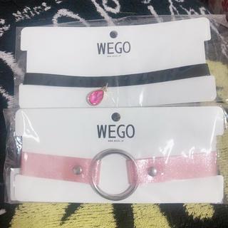 ウィゴー(WEGO)のピンク、チョーカー、セット(ネックレス)