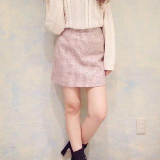 ダズリン(dazzlin)のdazzlin ツイード台形スカート(ミニスカート)