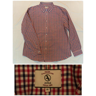 エーグル(AIGLE)のAIGLE エーグル 吸水速乾 ギンガムチェック BDシャツ メンズ XL(シャツ)