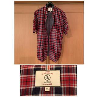 エーグル(AIGLE)のAIGLE エーグル チェック BD半袖チェックシャツ メンズ XL(シャツ)
