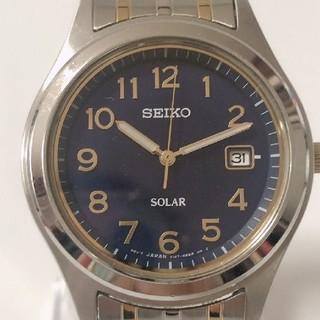 セイコー(SEIKO)のSEIKO セイコー V147-0AE0 ネイビー ソーラー メンズ 腕時計(腕時計(アナログ))
