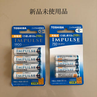 トウシバ(東芝)のTOSHIBA東芝ニッケル水素電池 単3形充電池4本+単4形充電池4本(その他)