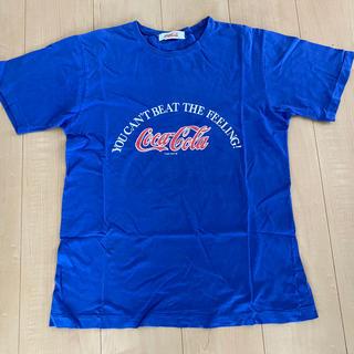 コカコーラ(コカ・コーラ)のCoca-Cola Tシャツ(青)(Tシャツ/カットソー(半袖/袖なし))