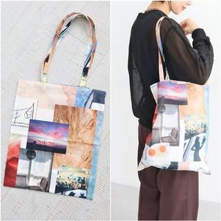 フィーニー(PHEENY)のPHEENY*print chiffon tote bag(トートバッグ)
