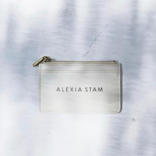アリシアスタン(ALEXIA STAM)の新品未使用 アリシアスタン Logo Card Case Sand Beige(名刺入れ/定期入れ)