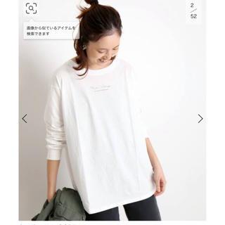 イエナスローブ(IENA SLOBE)のSLOBE IENA mon village ロゴTシャツ ホワイト(Tシャツ(長袖/七分))
