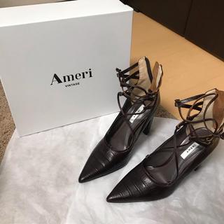 アメリヴィンテージ(Ameri VINTAGE)の【アメリヴィンテージ】ZIGZAG LACE UP PUMPUS(ローファー/革靴)