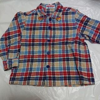 ミキハウス(mikihouse)のミキハウスチェックシャツ90センチ(ブラウス)