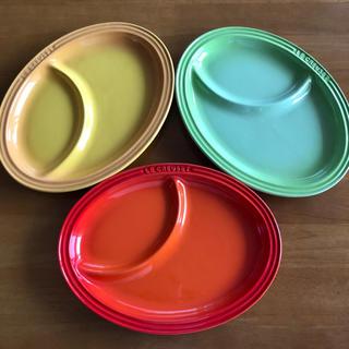 ルクルーゼ(LE CREUSET)のル・クルーゼ マルチオーバルプレート 3枚セット(食器)